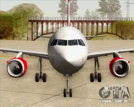 Airbus A319 Air Canada Rouge para GTA San Andreas interior