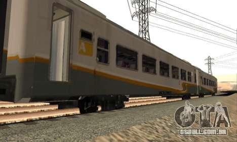 K1 Argo Traincar Indonésio para GTA San Andreas esquerda vista