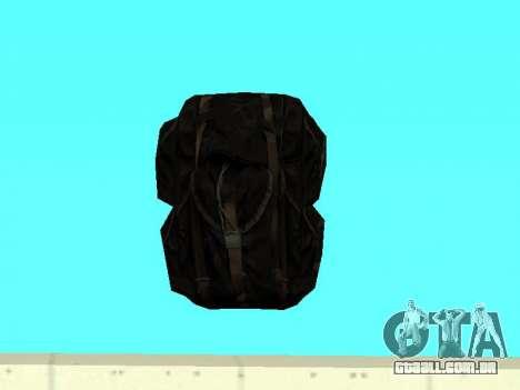 Mochila preta de Stalker para GTA San Andreas segunda tela