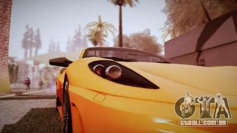 Graphic Unity v3 para GTA San Andreas por diante tela