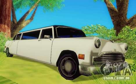 Cabbie Limousine para GTA San Andreas esquerda vista