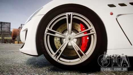 Maserati GranTurismo MC Stradale 2014 [Updated] para GTA 4 vista de volta