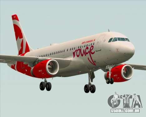 Airbus A319 Air Canada Rouge para GTA San Andreas