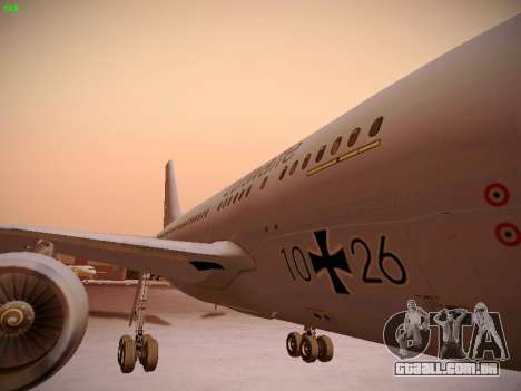 Airbus A310 MRTT Luftwaffe (German Air Force) para GTA San Andreas vista superior