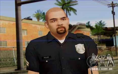 Polícia (GTA 5) Pele 2 para GTA San Andreas terceira tela