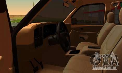 GMC Yukon XL ФСБ para GTA San Andreas traseira esquerda vista