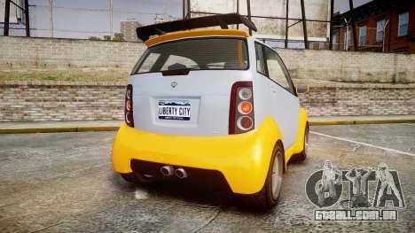GTA V Benefactor Panto para GTA 4 traseira esquerda vista