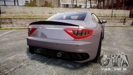 Maserati GranTurismo MC Stradale 2014 [Updated] para GTA 4 traseira esquerda vista