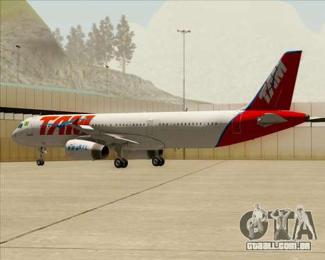 Airbus A321-200 TAM Airlines para GTA San Andreas vista inferior