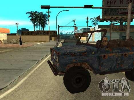 Polícia UAZ de Stalker para GTA San Andreas esquerda vista