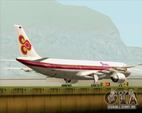 Airbus A330-300 Thai Airways International para GTA San Andreas vista traseira