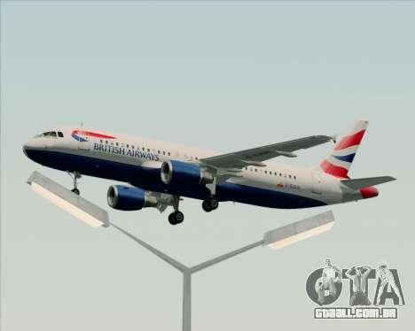 Airbus A320-232 British Airways para GTA San Andreas interior