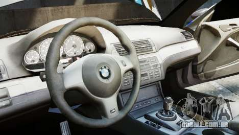 BMW M3 E46 Emre AKIN Edition para GTA 4 vista de volta