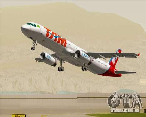 Airbus A321-200 TAM Airlines para o motor de GTA San Andreas