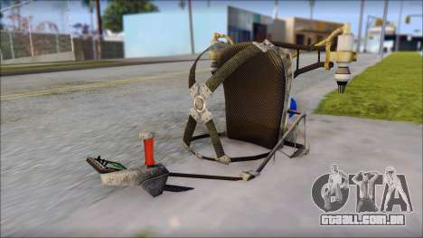 New Jetpack para GTA San Andreas por diante tela