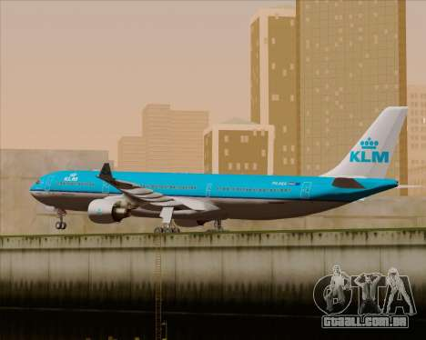 Airbus A330-300 KLM Royal Dutch Airlines para GTA San Andreas vista interior