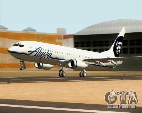 Boeing 737-890 Alaska Airlines para GTA San Andreas vista interior