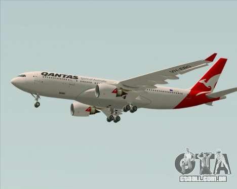 Airbus A330-200 Qantas para GTA San Andreas vista interior
