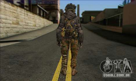 Task Force 141 (CoD: MW 2) Skin 10 para GTA San Andreas segunda tela