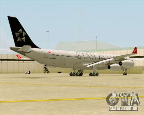 Airbus A340-311 Turkish Airlines (Star Alliance) para GTA San Andreas vista direita