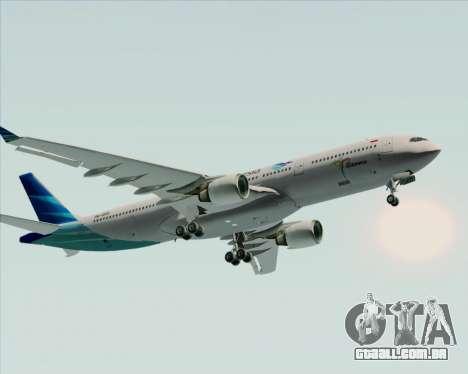 Airbus A330-300 Garuda Indonesia para GTA San Andreas vista superior