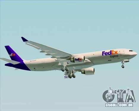 Airbus A330-300P2F Federal Express para vista lateral GTA San Andreas