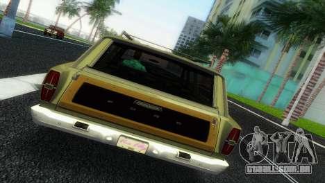 Ford Country Squire para GTA Vice City vista traseira esquerda