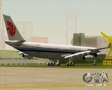 Airbus A340-313 Air China para GTA San Andreas vista traseira