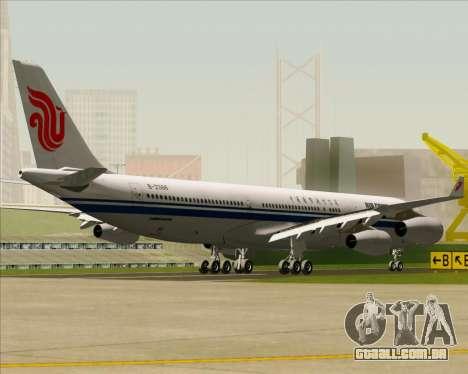 Airbus A340-313 Air China para GTA San Andreas vista traseira