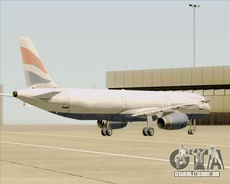 Airbus A321-200 British Airways para GTA San Andreas vista inferior