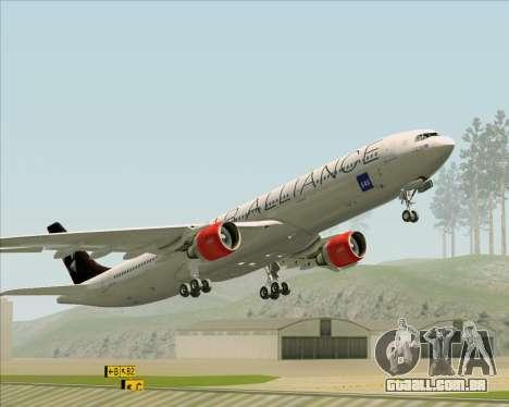 Airbus A330-300 SAS (Star Alliance Livery) para GTA San Andreas vista inferior
