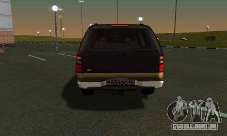 GMC Yukon XL ФСБ para GTA San Andreas vista traseira