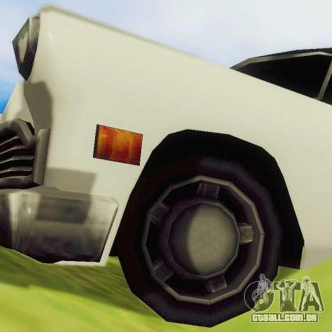 Cabbie Limousine para GTA San Andreas vista traseira