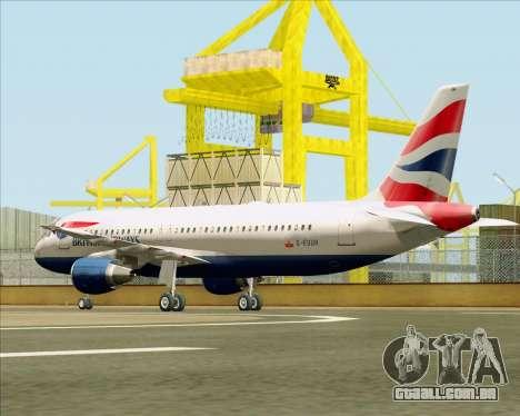 Airbus A320-232 British Airways para GTA San Andreas vista direita