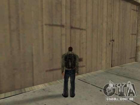 Mochila preta de Stalker para GTA San Andreas quinto tela