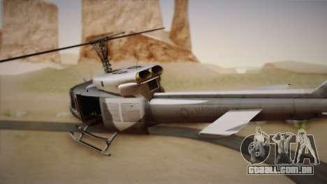 Bell UH-1N Twin Huey USMC para GTA San Andreas esquerda vista