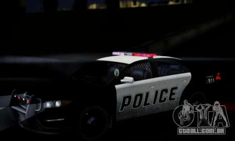 Vapid Police Interceptor from GTA V para GTA San Andreas vista superior