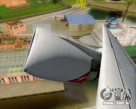 Airbus A330-200 Qantas Oneworld Livery para GTA San Andreas vista interior