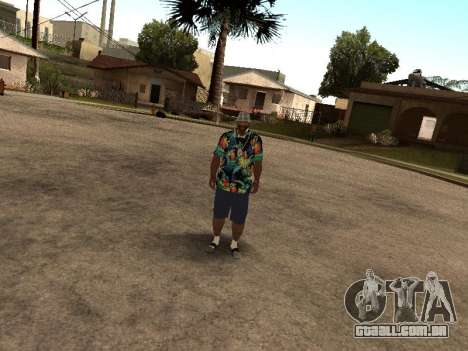 Camisa havaiana como max Payne para GTA San Andreas por diante tela