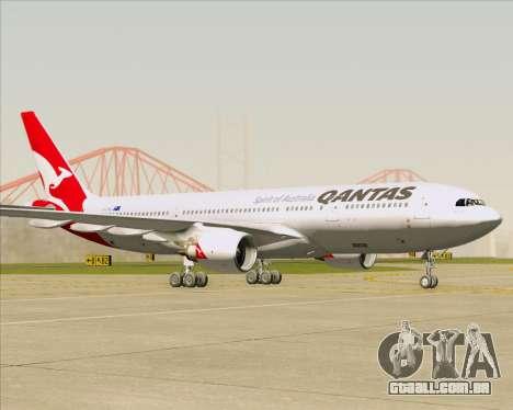 Airbus A330-200 Qantas para GTA San Andreas esquerda vista