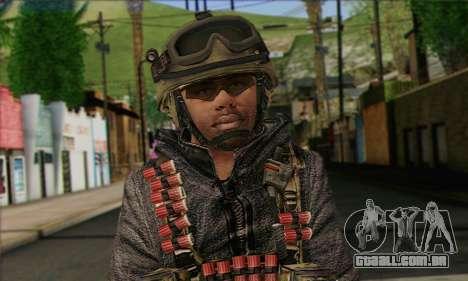 Task Force 141 (CoD: MW 2) Skin 10 para GTA San Andreas terceira tela