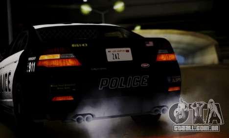 Vapid Police Interceptor from GTA V para GTA San Andreas vista interior