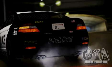Vapid Police Interceptor from GTA V para GTA San Andreas vista traseira