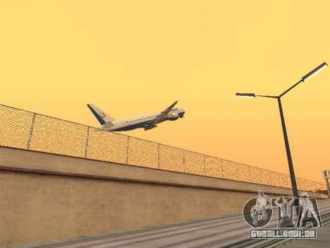 Boeing 777-2Q8ER Orenair Airlines para GTA San Andreas vista direita