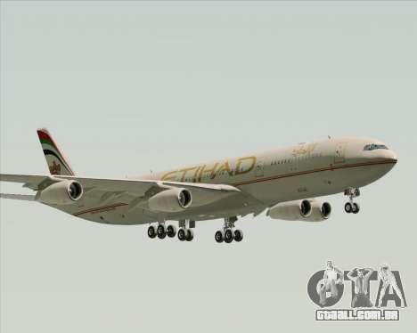 Airbus A340-313 Etihad Airways para GTA San Andreas traseira esquerda vista