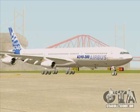 Airbus A340-311 House Colors para GTA San Andreas esquerda vista