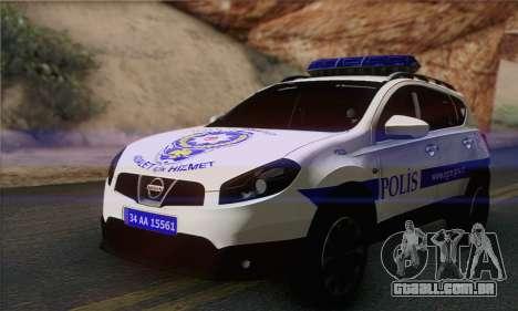 Nissan Qashqai TR POLÍCIA para GTA San Andreas