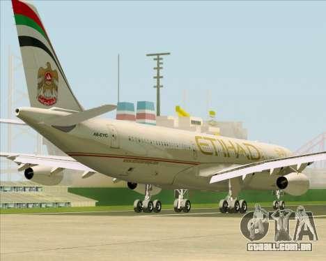 Airbus A340-313 Etihad Airways para as rodas de GTA San Andreas