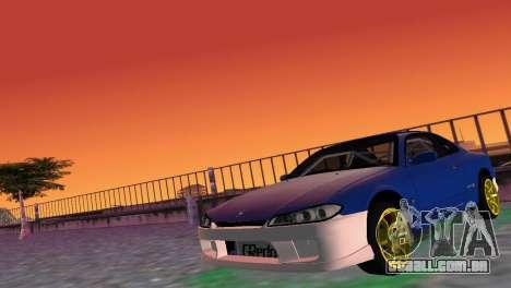 Nissan Silvia S15 TUNING JDM para GTA Vice City deixou vista