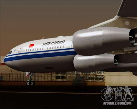 Airbus A340-313 Air China para GTA San Andreas vista inferior